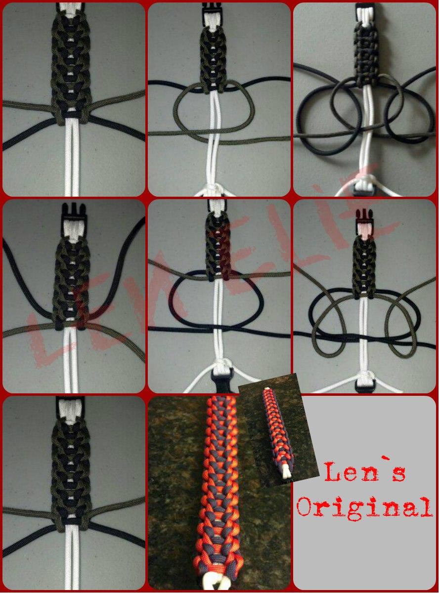 Браслет для часов из паракорда схемы плетения